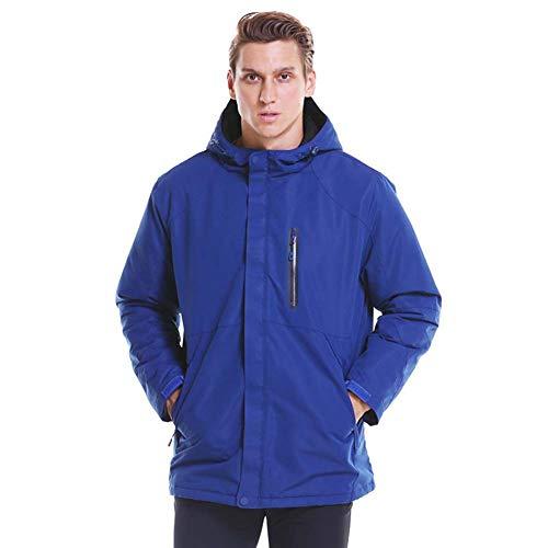Elamo warmtejack, licht, geïsoleerd, voor heren, USB-koolstofvezel, winddicht, thermische kleding voor skiën, paardrijden en dragen in het dagelijks leven