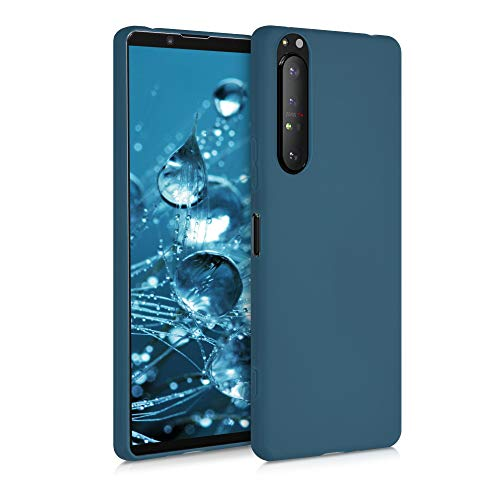 kwmobile TPU Silicone Case Compatible with Sony Xperia 1 II - Soft Flexible Protective Phone Cover - Teal Matte