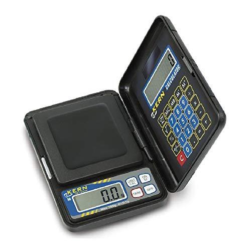 KERN CM 150-1N Serie CM Taschenwaage mit Integriertem Taschenrechner, 150kg Wägebereich, 0.1g Ablesbarkeit, 0-150kg