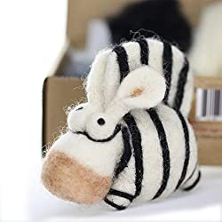 Woolbuddy Needle Felting Zebra Kit