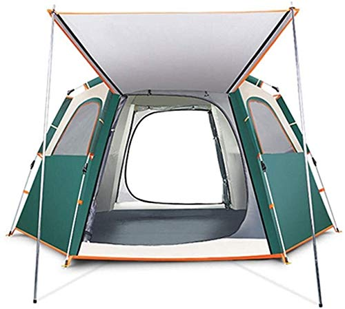 LAZ Outdoor Tent Fully Automatic Camping Thickening Anti-Storm Wild Home Tent,Instant Tent for Family Outdoor Activities and 2 Sizes (Color : Green, Size : Large)