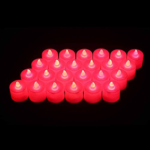 LABYSJ 24 Pack LED Candela Luce del tè Sfarfallio Senza Fiamma Candele A LED Candele Elettriche Elettriche A Batteria Sfarfallio Stoppino Commovente Realistico