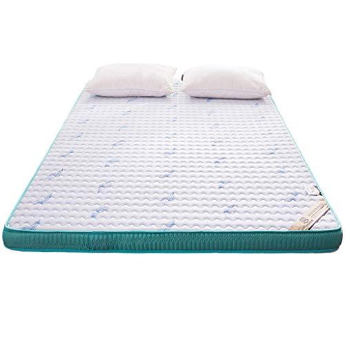 yangdan Colchón de látex de 5 cm de espesamiento de esponja para dormir colchón, colchoneta de futón plegable, colchón de futón para estudiantes (color: blanco, tamaño: 1 x 2 m)