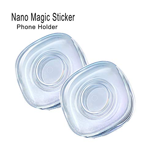 2 Pack Nano Gel Pad Traceless Magic Sticker,Washable Multi-Functional Universal Sticky Car Phone Holder, Application for Car, Home, Office Storage of Various Small Device and Items