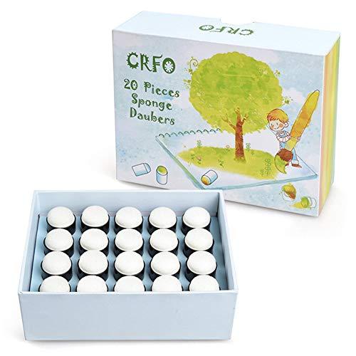 Finger Schwamm Daubers Malschwämme Sponge Daubers Set mit Aufbewahrungsbox für Kartenherstellung Malerei Zeichnung Kreide (20pcs)