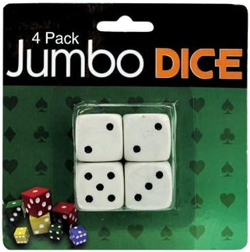 Bulk Buys Kids Games Jumbo Dice, Pack Of 4 Case Of 24 by bulk buys