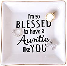 Aunt Gifts Trinket Dish - I'm so Blessed to Have an Auntie Like You - Birthday Gift for Auntie, Gift for Aunt from Nephew, Gift from Niece to Aunt, Special Aunt Gift, Aunts Birthday Gift From Niece