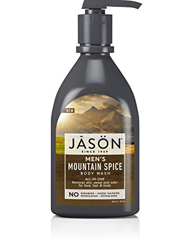 Jason Natural Men's All-In-One Body Wash, Mountain Spice, 30 Oz