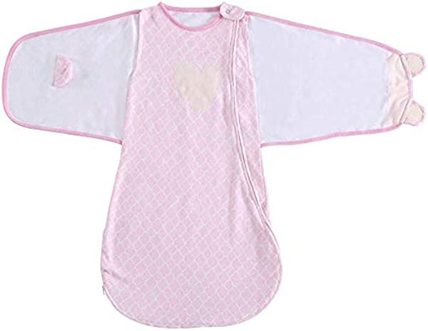 Baby Sleeping Bag Swaddle Sack Wearable Blanket Cotton 6 12 Months