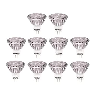 BAOMING MR11 GU4 LED Bulb 20W/35W Halogen Replacement Equivalent 12V AC/DC 2700K Warm White 30° 10-Pack