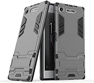 Super-thin Phone Shell For Sony XZ1 Case, Personalized Dual Layer Armor Defender Shockproof Protective Hard Case With Stan...