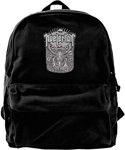 Mochila de Lona, Kvelertak Travel Laptop Backpack Laptops Backpack College School Computer Bag for Women Men Fits 14 Inch Laptop and Notebook Casual Laptop Business Bag Black