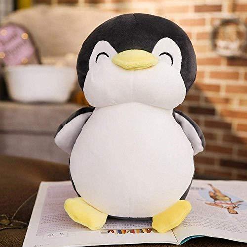 DINGX R 30Cm/45Cm/55Cm Super Suave Pingüino Peluche Juguete Lindo Animal Pingüino Peluche Regalo Sofá Almohada - 53Cm_Negro Chuangze