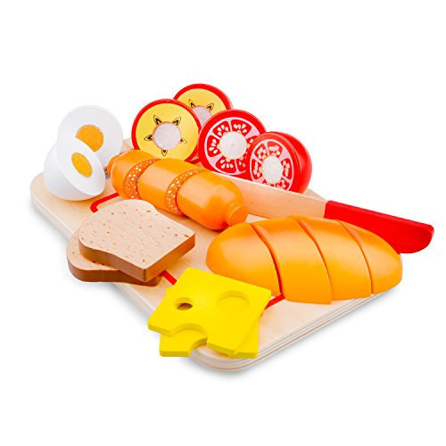 New Classic Toys - 10578 - Kinderrollenspiele - Schneideset Frühstück mit Brettchen - 10 Teile