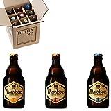 Caja degustación 9 cervezas de abadía belgas Maredsous. Una selección de las mejores cervezas elaboradas por lo monjes que nunca defraudan. Una gran elección.