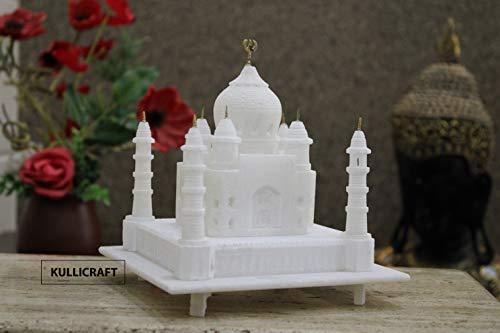 KC KULLICRAFT Marble Taj Mahal Showpiece, 6 Inch, White, 1 Piece