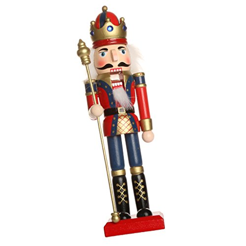Fenteer Klassischer Holz Nussknacker Soldat Figuren Modell Puppe Spielzeug Wohnkultur Dekoration - d