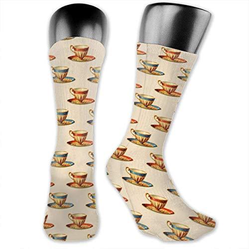 Feuchtigkeitstransportierende Unisex-Socken mit Totenkopf-Motiv Gr. Einheitsgröße, Bild Teetasse