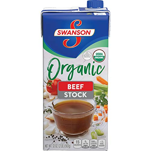 Swanson Organic Beef Stock, 32 oz. Cartons (Pack of 12)