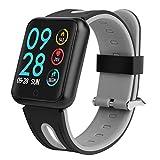 Bluetooth Smartwatch, Fitness Uhr Intelligente Armbanduhr Fitness Tracker Smart Watch Sportuhr mit Kamera Schrittzähler Schlaftracker Romte Capture Kompatibel mit Android Smartphone,Schwarz