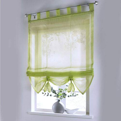 YOUXIA Voile Sheer Roman Curtain 120 * 155 cm