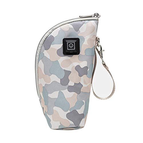 SCFBA Aquecedor de Leite Garrafa Portátil USB para Viagem Aquecedor de Leite Aquecedor de Mamadeira Bolsa de Armazenamento Infantil