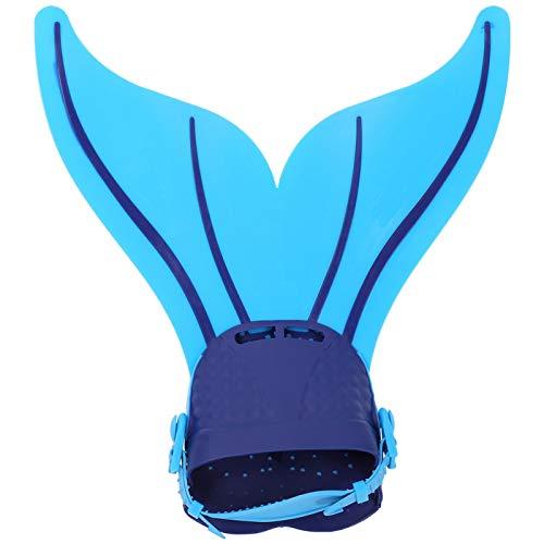 Liyeehao Aletas de Entrenamiento de natación Antideslizantes Ajustables, Aletas de natación, Snorkel Transpirable para niños(Blue)
