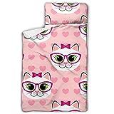 WYYWCY Cute Cartoon Kitty Cat y Heart Rolling Nap Mat Sacos de Dormir para...