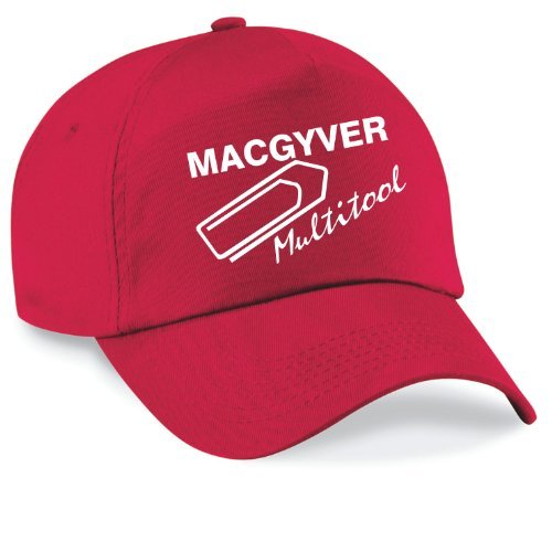 Shirtinstyle Casquette Baseball Mac Gyver Multi Outils Casquette Capy Taille Unisexe Beaucoup de Couleurs - Rouge, Unisex