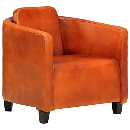 vidaXL Sessel Sofa Relaxsessel Einzelsofa Lounge Polstersofa Polstersessel Ruhesessel Ledersofa Ledersessel Loungesessel Hellbraun Echtleder