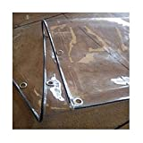 WFGGD Transparente Lona Impermeable 2x5m Heavy Duty Invernadero de Plantas a Prueba de Lluvia Espesa la fusión térmica de PVC Cristal Suave for jardín en la azotea al Aire Libre (Size : 1.2x2m)