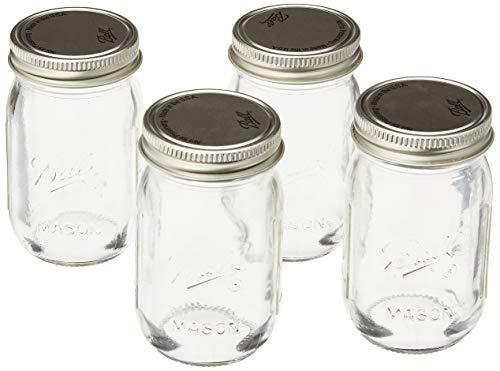 Jarden Ball 4PK 4OZ Mini Jars, 4 Pack, Plain