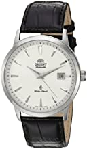 Orient Men's Symphony Gen. II Stainless Steel Japanese-Automatic Watch with Leather Strap, Brown, 22 (Model: SER2700HW0)