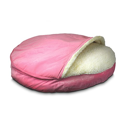 Pink Snoozer Luxury Cave Bed for Frenchies