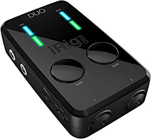 Interfaccia mobile stereo compatta per iOS, Mac e PC 2x Uscite bilanciate TRS Ingresso / uscita MIDI con cavi da TRS a MIDI DIN (in dotazione) Alimentato dalla porta USB quando è collegato a MAC / PC 2x Ingressi combo XLR / TRS