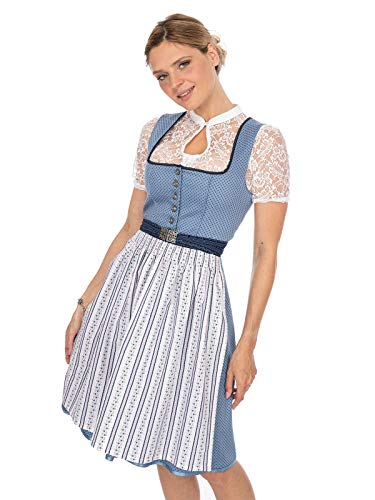 Stockerpoint Damen Tani Dirndl, Mehrfarbig (Blau-Weiss Blau-Weiss), (Herstellergröße: 42)