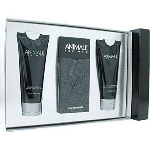 Animale by Animale for Men - 3 Pc Gift Set 3.4oz EDT Spray, 3.4oz After Shave Balm, 3.4oz Hair and Body Wash