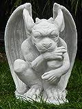 Skulptur Gartenskulptur Beton Figur Drache Gargoyle Torwächter H 29 cm Dekofigur Gartendeko Gartenskulptur