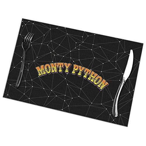 jhgfd7523 Monty-Python Platzsets, fleckenabweisend, langlebig, hitzebeständig, Tischsets, Esstisch, 30,5 x 45,7 cm, 6er-Set