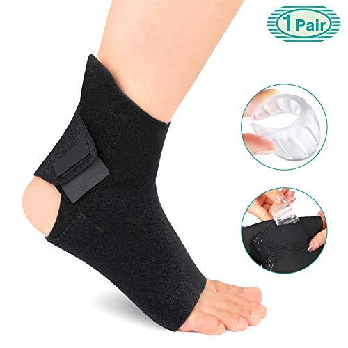 HEALIFTY Protector para el tobillo Calcetines para el tobillo Protecci/ón para correr El/ástico Protector para tobillo Protector de tobillo 1 par