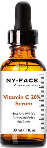 NY FACEs Best Vitamin C Serum -works wonders to repair the effects of sun damage, lighten sun and age spots, smooth and brighten- Vitamin E+Hyaluronic Acid-Natural Jojoba Oil & Arginine