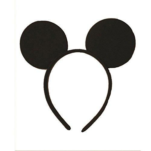 Oreilles Minnie Mouse noires sur 1,5 cm Alice Band Anniversaire enterrement de vie de jeune fille