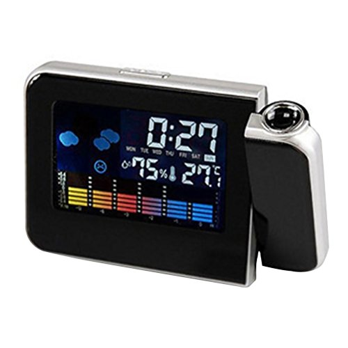 Smart Digital Projection Clock Time Alarm Clock Weather Station Projector