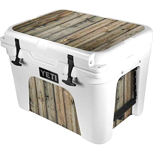 Skinit Decal Skin Compatible with YETI Tundra 35 Hard Cooler - Originally Designed Natural Weathered Wood Design