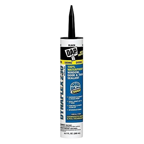 Dap 18280 2 Pack 10.1-Ounce Dynaflex 230 Premium Indoor/Outdoor Sealant, Black