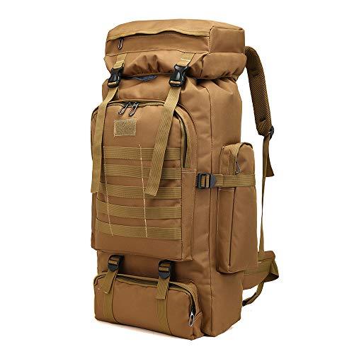 Greenpromise Outdoor 80L Grande Capacità Militare Zaino Tattico Zaino Alpinismo Borsa Campeggio Escursionismo Militare Camo Impermeabile, cachi, 72*34*17cm