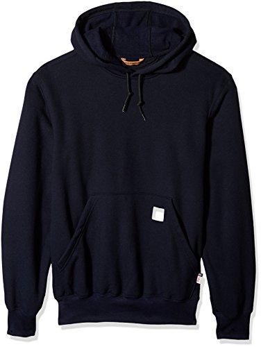Carhartt Men's Flame Resistant Heavyweight Hooded Sweatshirt, Dark Navy, Large