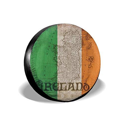 Cubierta decorativa de repuesto con emblema irlandés de Irlanda, impermeable, a prueba de polvo, UV, cubierta para rueda de neumático para Jeep, remolque, RV, SUV y muchos vehículos de 15 pulgadas
