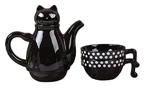 LBBZJM Conjunto de Tetera de cerámica Conjunto de té Copa de cerámica Dos Tazas de Tazas, Necesidades diarias Tetera cerámica (Color : White)