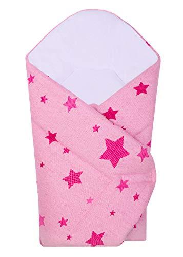 BlueberryShop Gestrickte Sterne Baumwolle Baby Wickeltuch Bettdecke   Schlafsack für Neugeborene   Geeignet für Kinder im Alter von 0-3 Monaten   Perfekt als Babyparty-Geschenk   80 x 75 cm